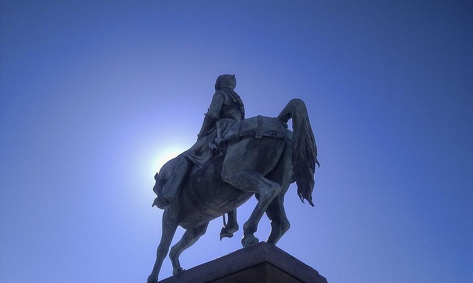 Joan Of Arc, Statue, Martroi, Orleans, Blue Sky