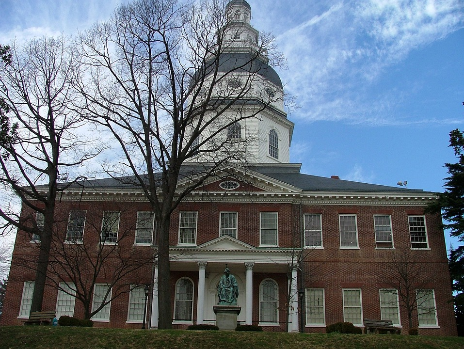 Annapolis, Maryland, Historical, State, House, Monument