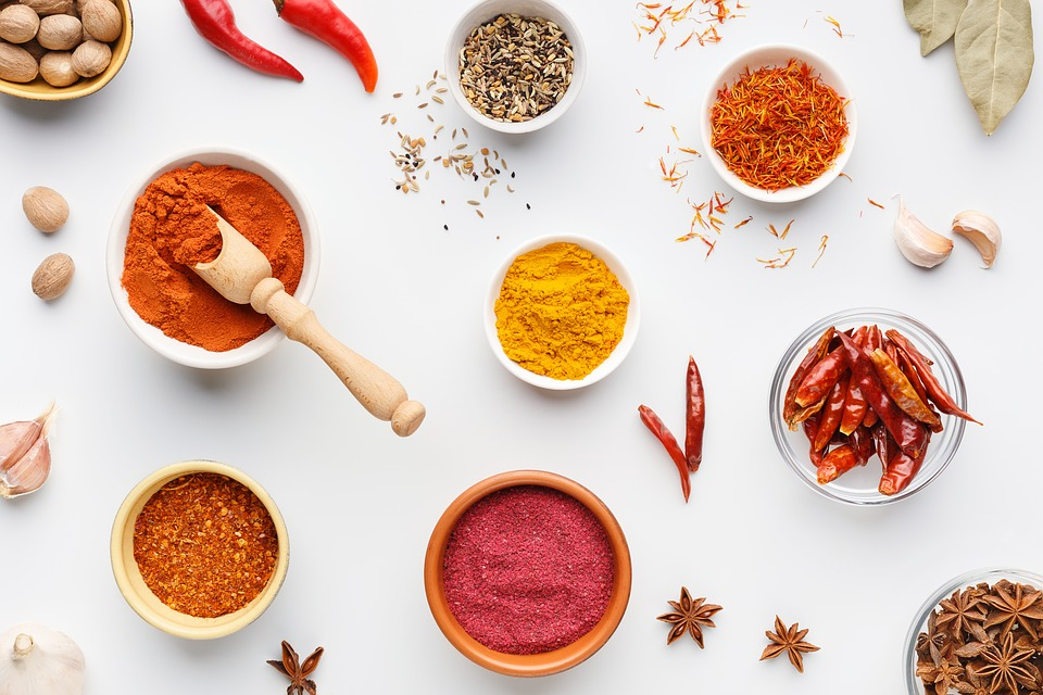 Masala, Ingredients, Spices, Turmeric, Chilli, Table