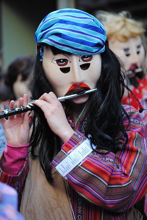 Mask, Piccolo, Carnival, Basler Fasnacht 2015