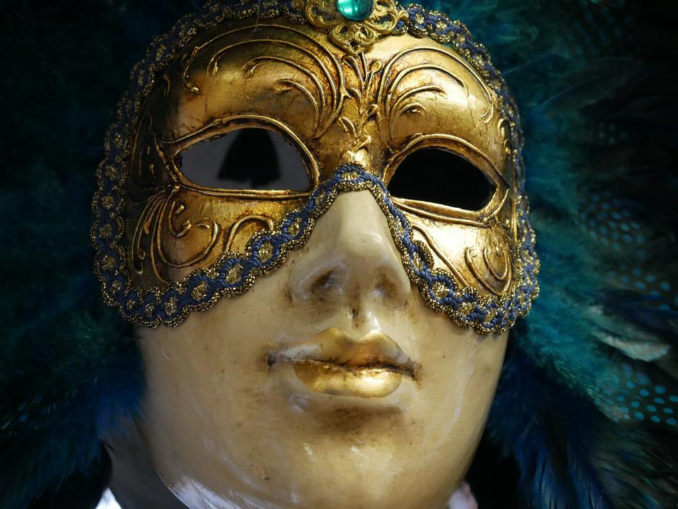 Mask, Carnival, Venice, Anonymous, Colors, Costume