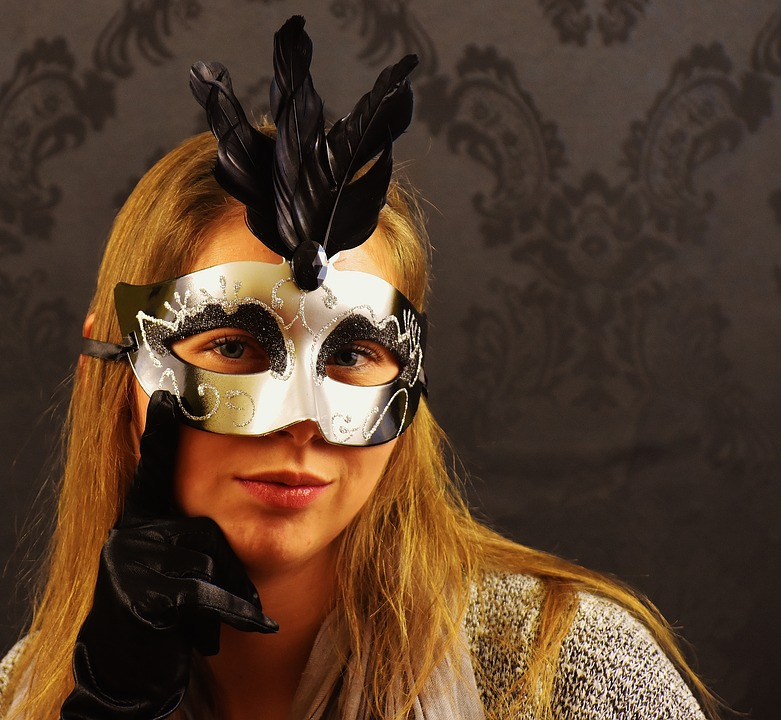 Woman, Pretty, Young Woman, Mask, Mystical, Face