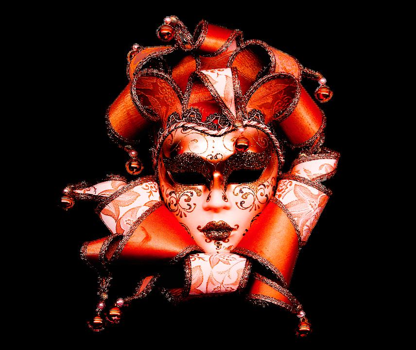 Carneval, Carnival, Mask, Golden, Ornament, Fantasy