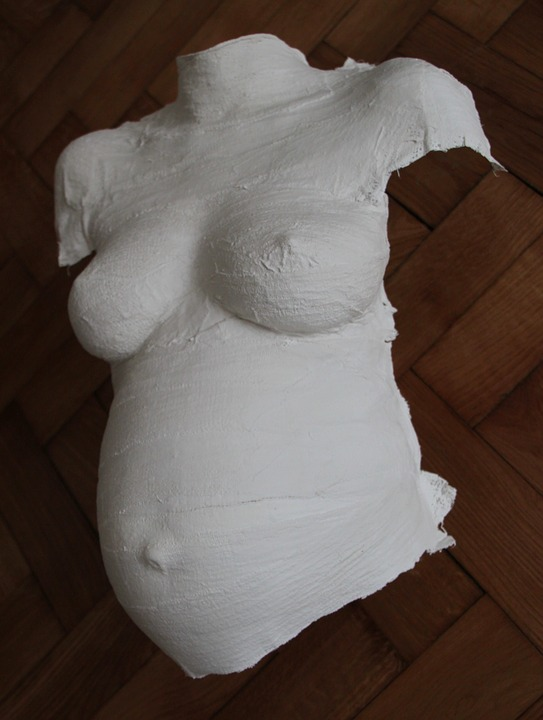 Torso, Pregnancy, The Expectations Of The, Gypsum, Mask