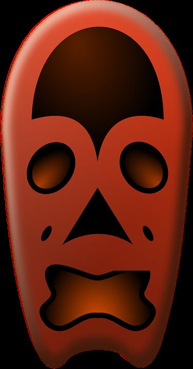 Mask, Red, Frightening