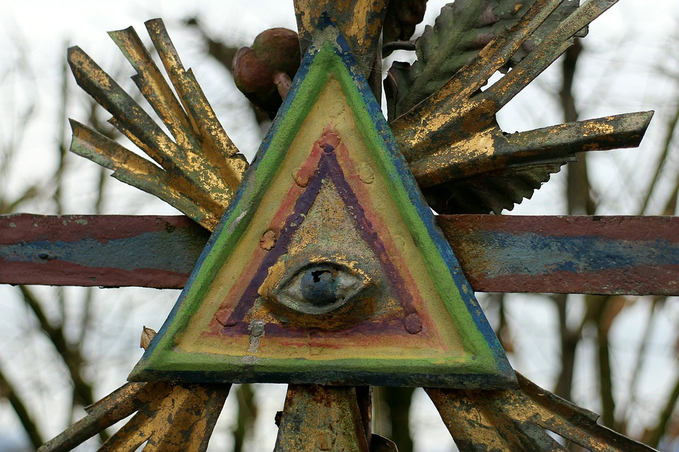 Masonic, Symbol, Corona, Triangle, Eye