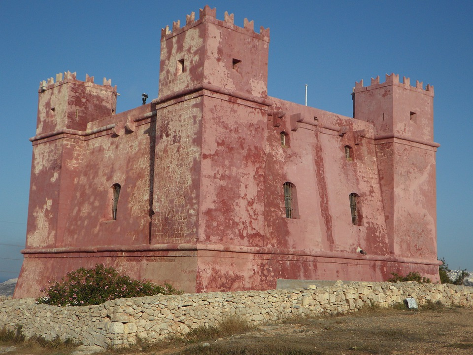 Defense, Masonry, Castle, Red Tower, Malta, Fortress