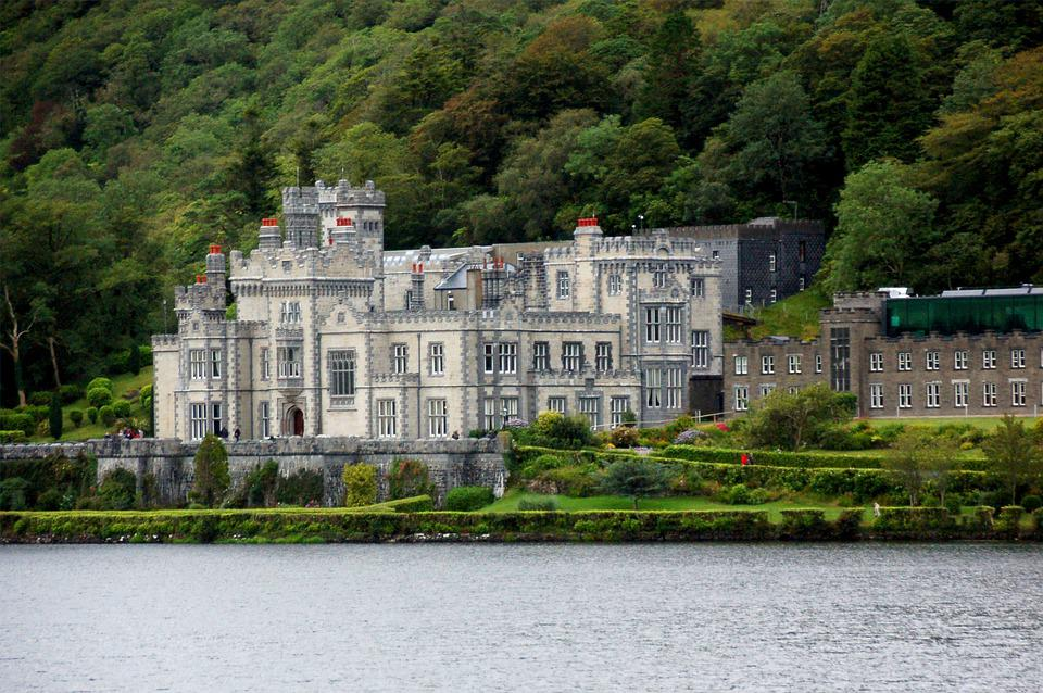 Kylemore Abbey, Ireland, Castle, Landscape, Masonry