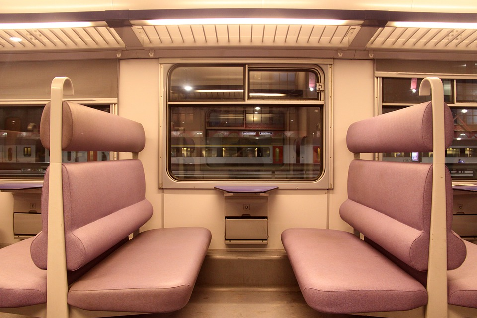 Passenger Car, Train, Subway, Mass Transit, Interior