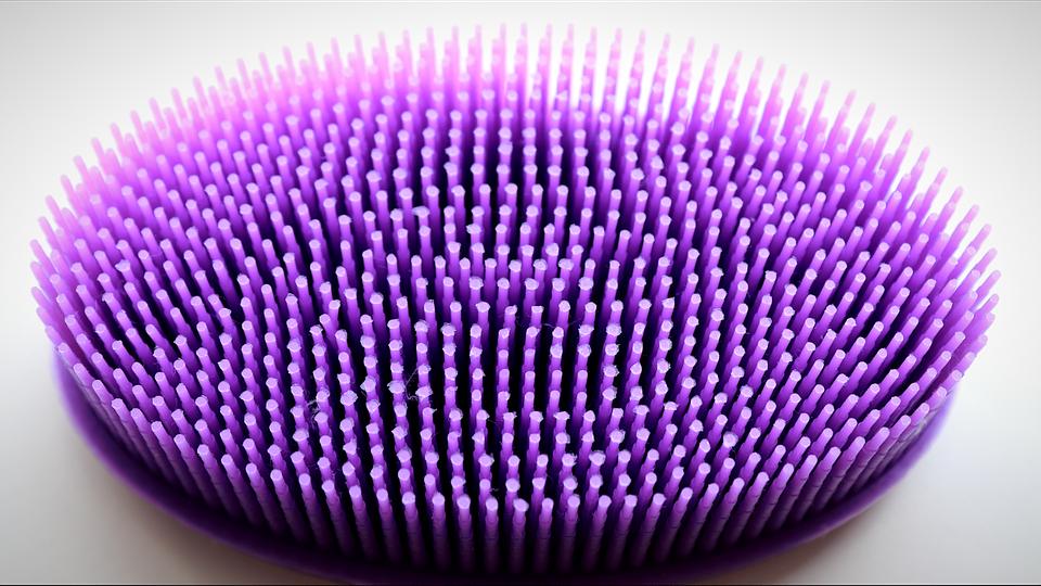 Massage Brush, Massage, Bristles, Purple, Wellness