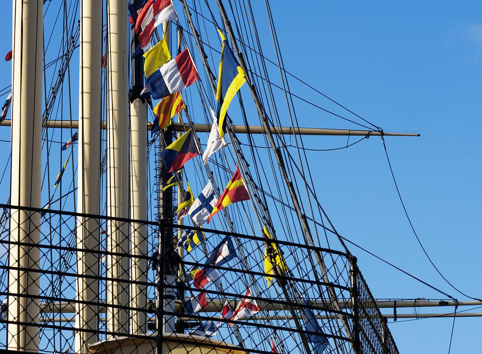 Rigging, Ship, Sailing, Ss Great Britain, Mast, Flag
