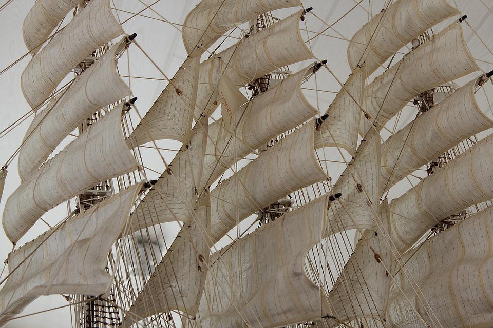 Sail, Masts, Rigging, Boat Mast, Three Masted