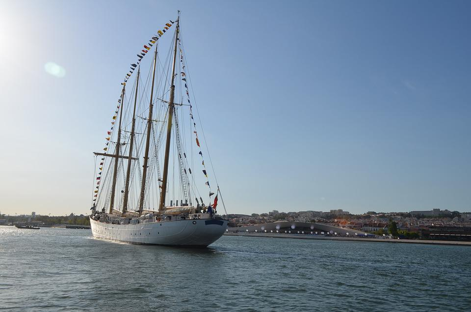 Sailboats, Masts, Mar, Boat, Lisbon, Portugal, Creole