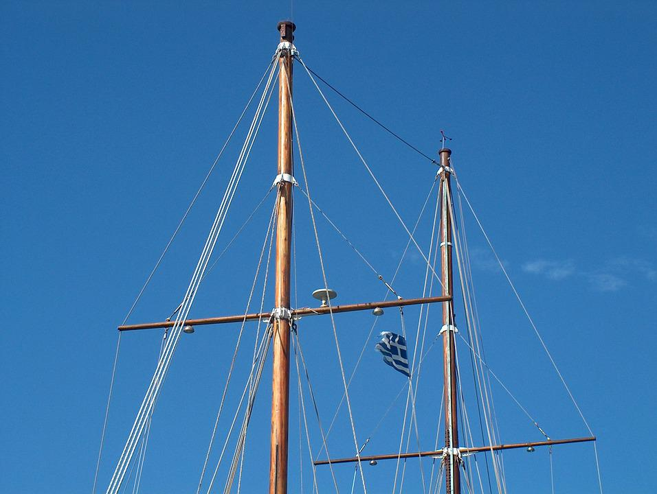 Ship, Masts, Sail, Sailing Boat, Zweimaster