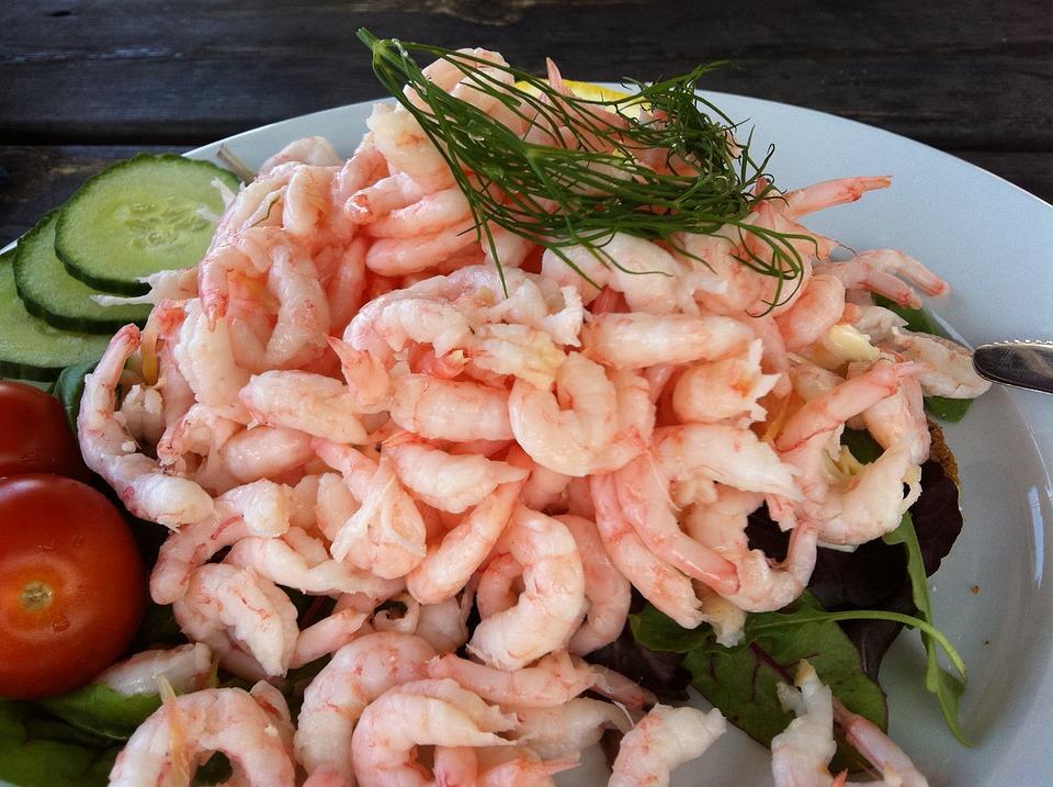 Shrimp, Shrimp Sandwich, Bread, Mat