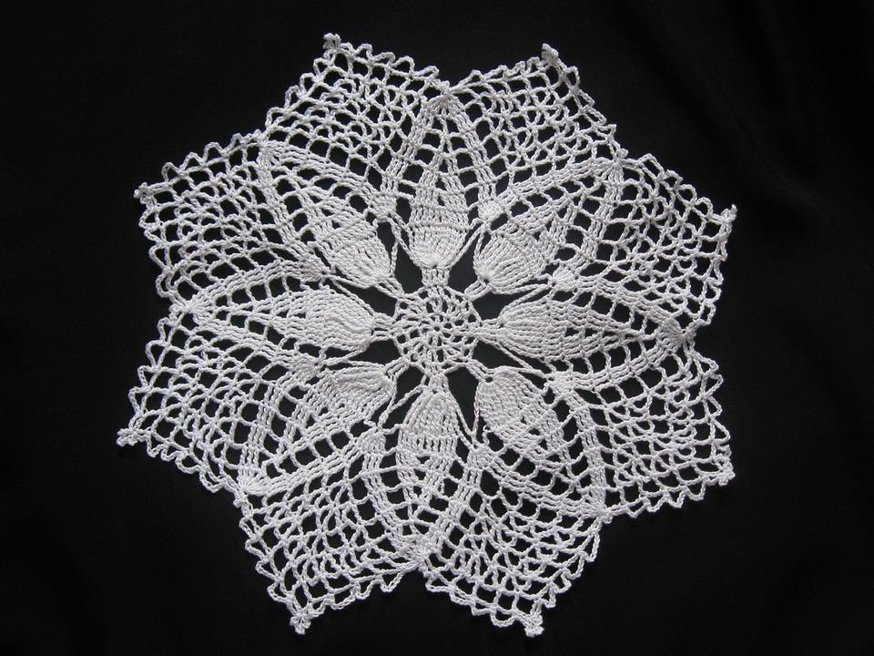 Crochet, Mat, Textile, Fiber, Material, Woven, Textured