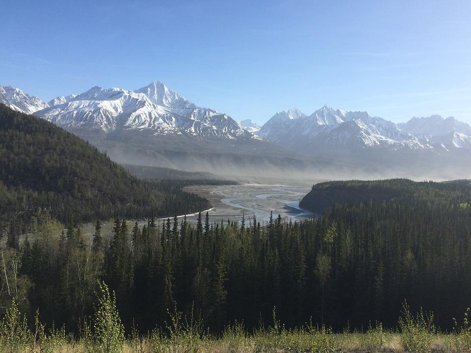 Alaska, Matanuska River, Mountain