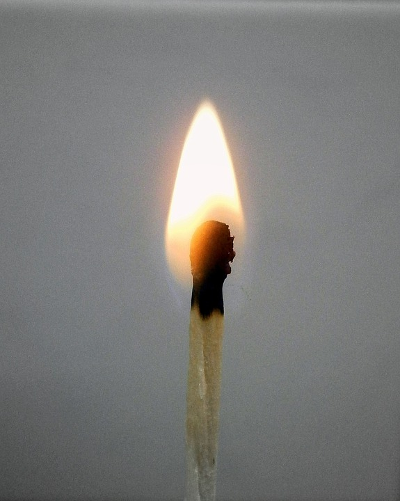 Match, Flame, Burns, Rest, Quiet, Atmosphere, Lights Up
