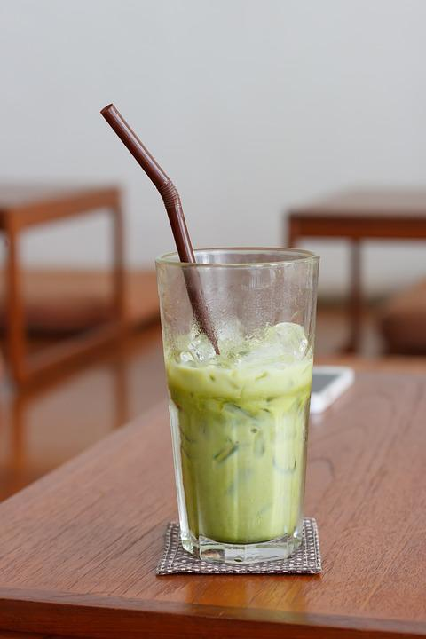 Green Tea, Matcha, Table, Eat, Cup, Cold, Drink, Glass