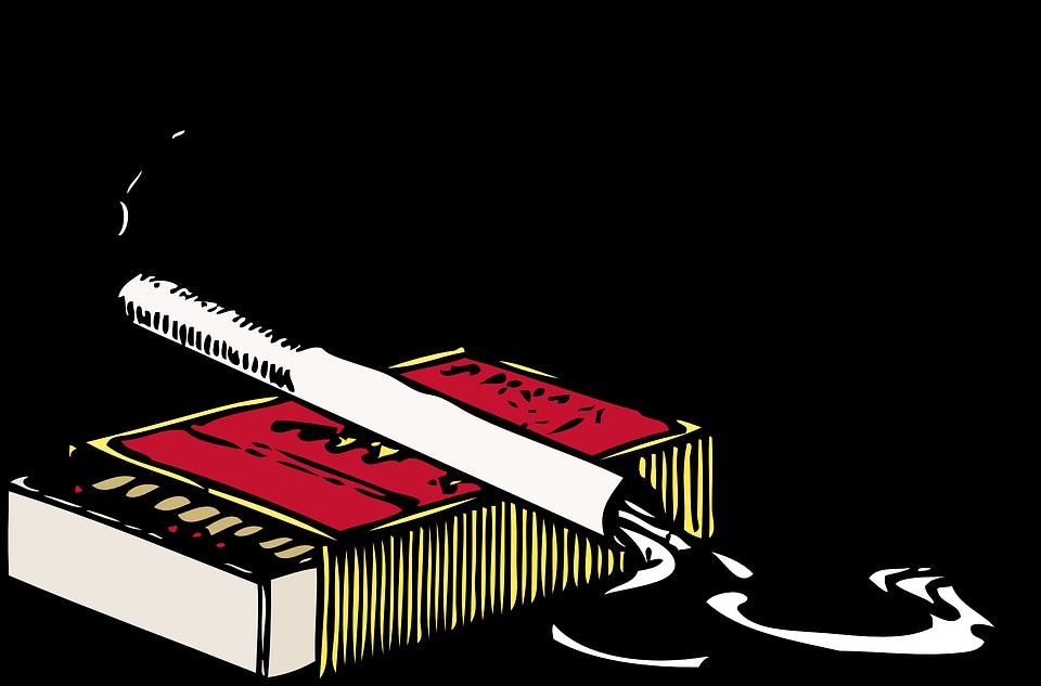 Matchbox, Matches, Smoking, Cigarette, Smoke, Lighted