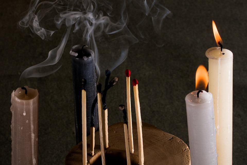 Candles, Matches, Smoke