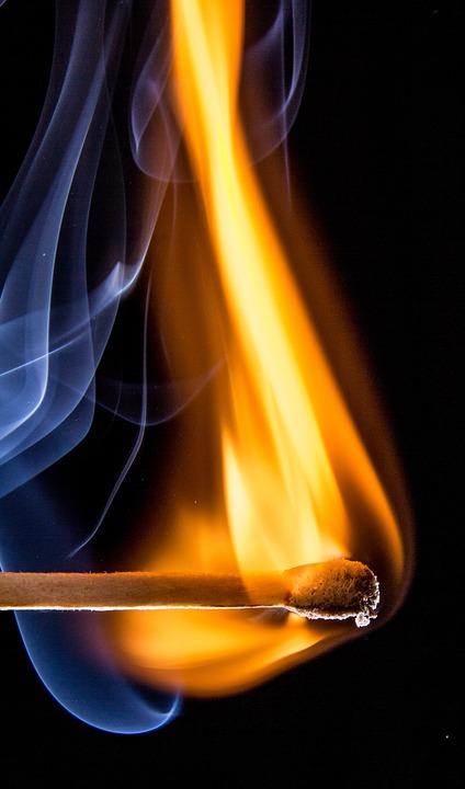 Match, Match Head, Sticks, Matches, Burn, Flame, Fire