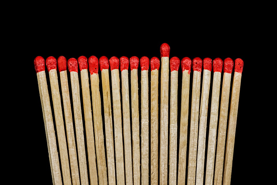 Match, Lighter, Matches, Sticks, Match Head, Wood