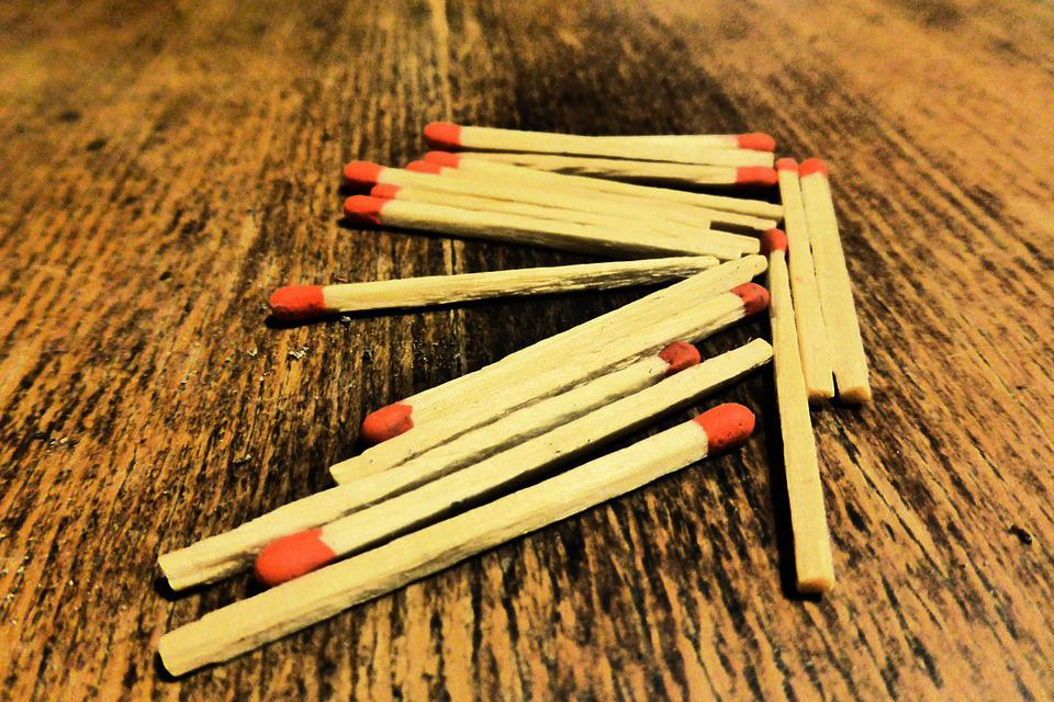 Matches, Sticks, Match Head, Red, Match