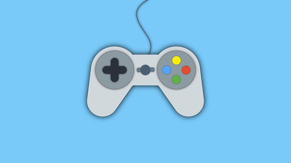 Joystick, Video Game, Wallpaper, Flat, Material Design