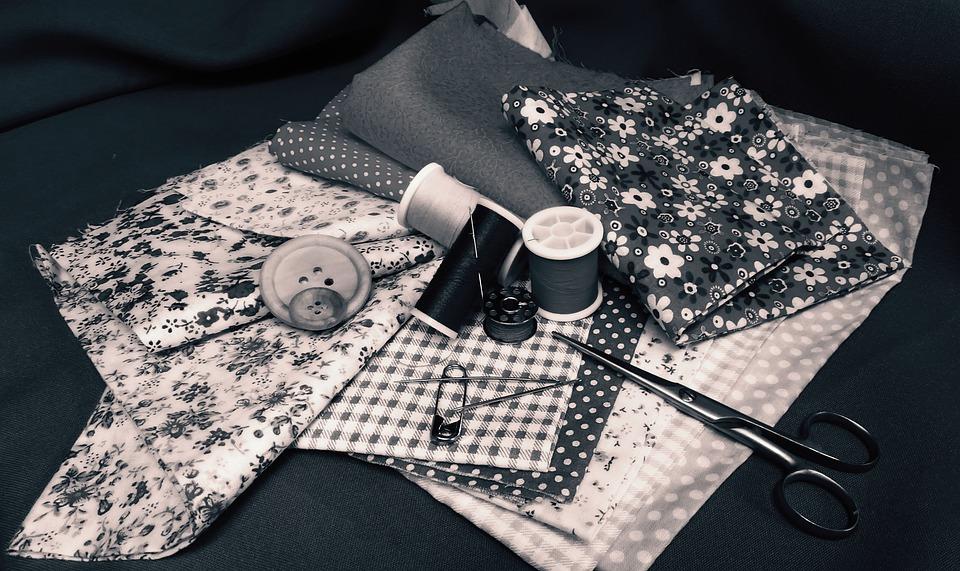 Handmade, Sew, Textile, Needle, Handarbeiten, Material