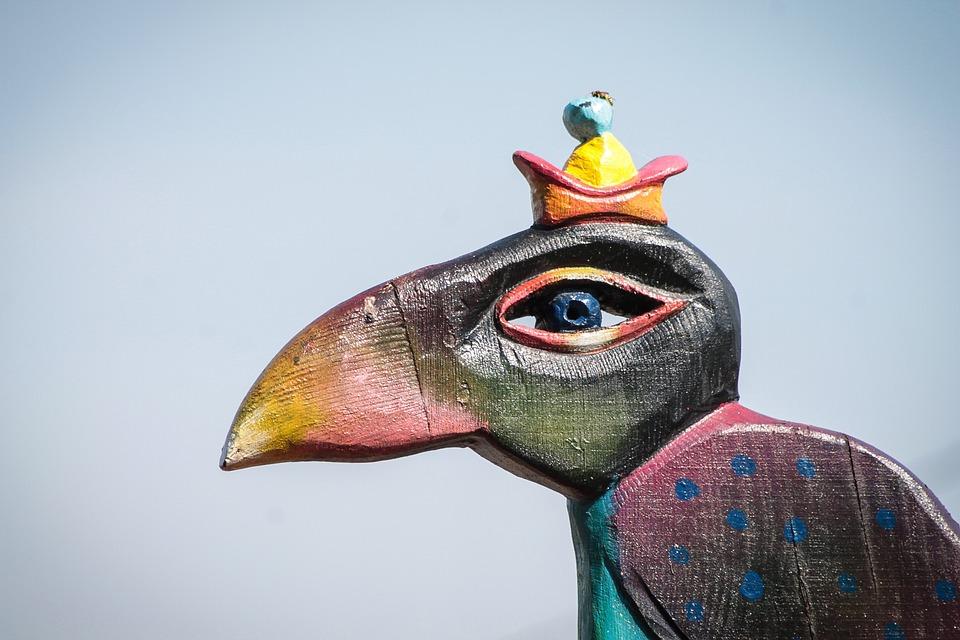 Statue, Wooden Sculpture, Wood, Material, Texture, Bird