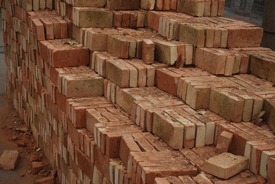 Brick, Bricks, Red, Construction, Building, Materials