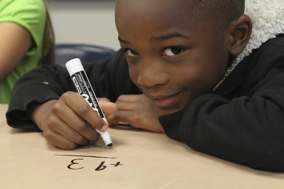 Boy, Math, Student, Desk, Elementary, School, Child