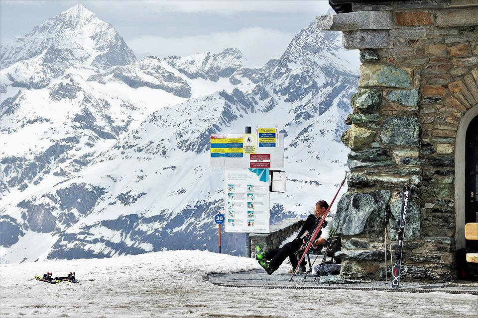Skis, Ski, The Alps, Matterhorn, Snow, Winter, Mountain