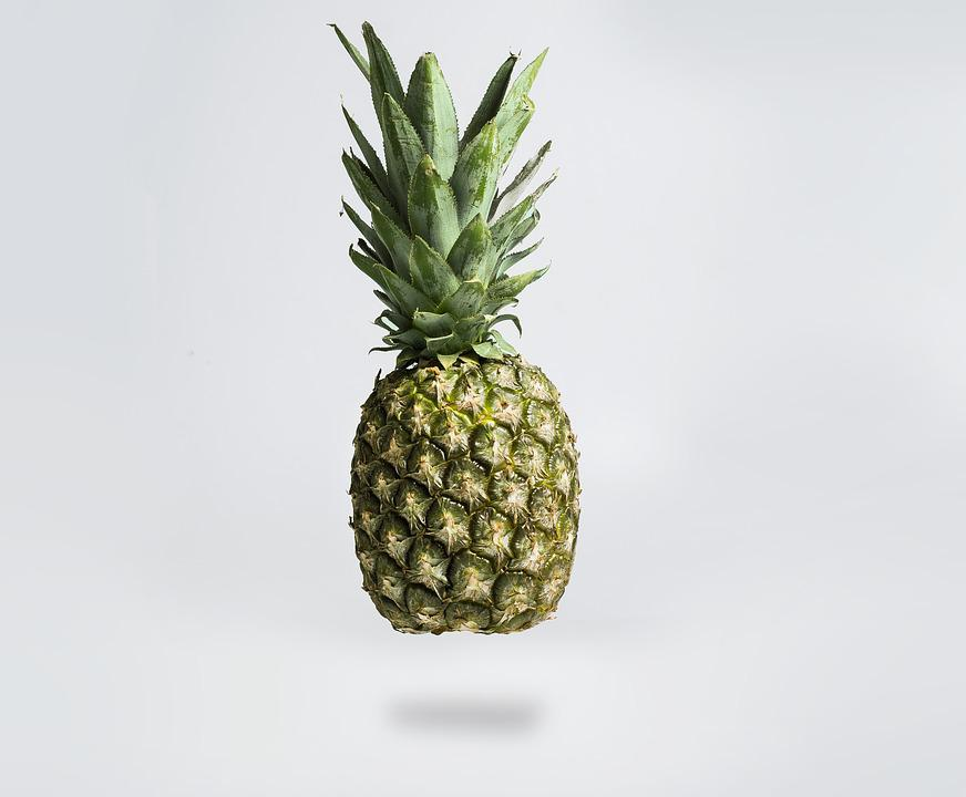 Pineapple, Fruit, Green, Mature
