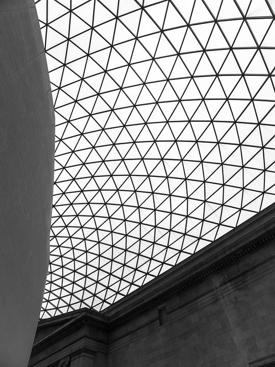 Architecture, Museum, Ceiling, Glass Ceiling, Mausoleum