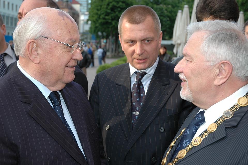 Gorbachev, Wiesbaden, Mayor Diehl, Hildebrandt Diehl
