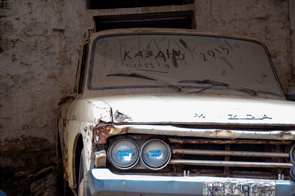 Mazda, Auto, Oldtimer, Scrap