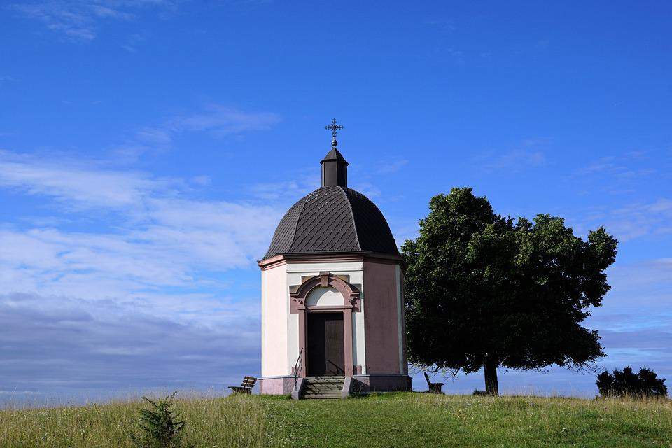 Chapel, Böttingen, Tuttlingen, Summer, Meadow, Religion