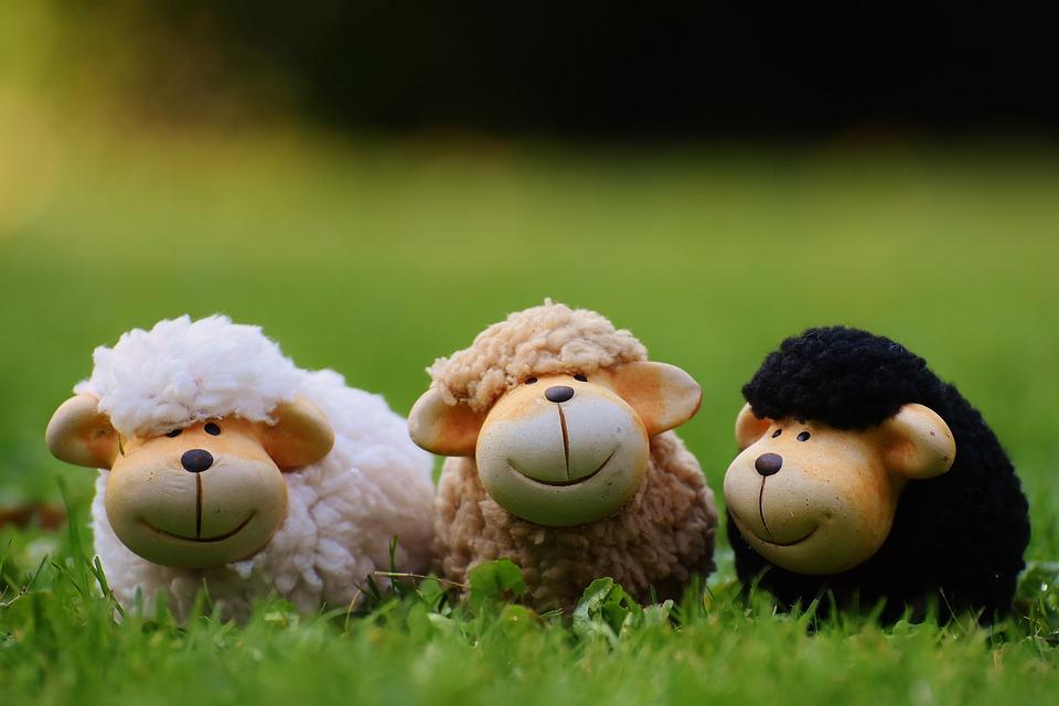 Sheep, Meadow, Animals, Deco, Flock Of Sheep, Ceramic