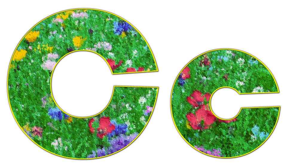 C, Letter, Alphabet, Font, Spring, Meadow, Flowers