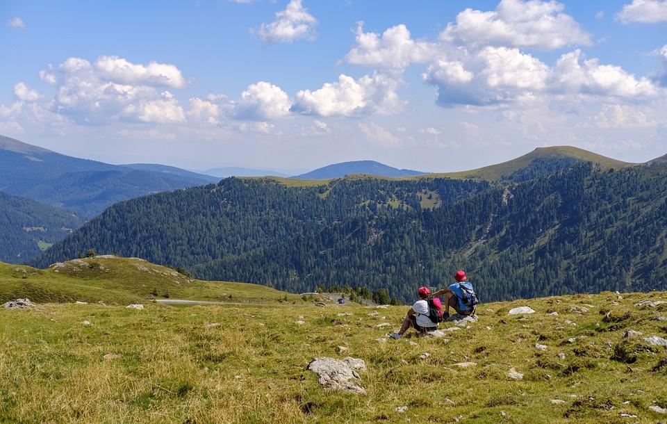 Hiking, Wanderer, Rest, Break, Enjoy, Meadow, Hill