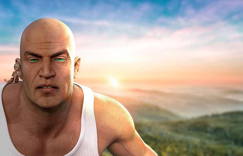 Human, Giant, Fantasy, Landscape, Meadow, Bald, Strong