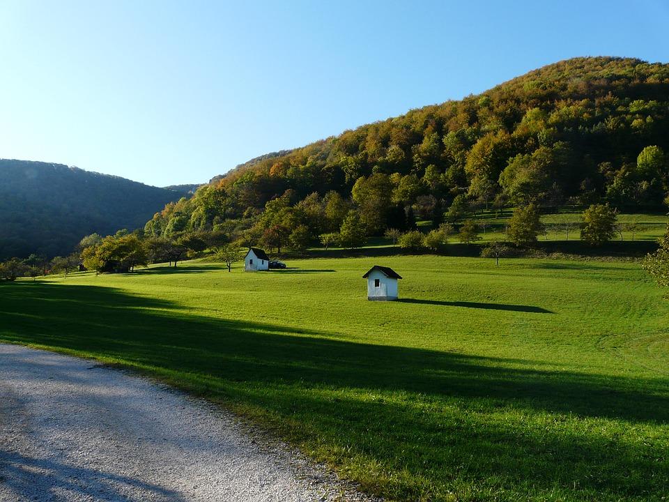 Meadow, Hut, Home, Swabian Alb, Hiking, Late Summer