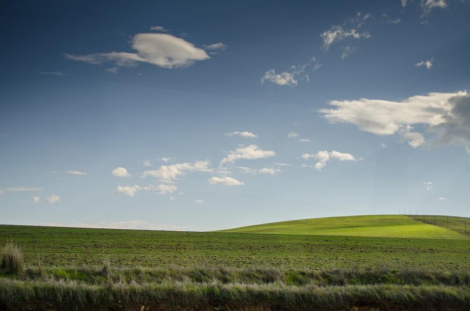 Meadows, Pasture, Grass, Hills, Sky, Landscapes, Clouds