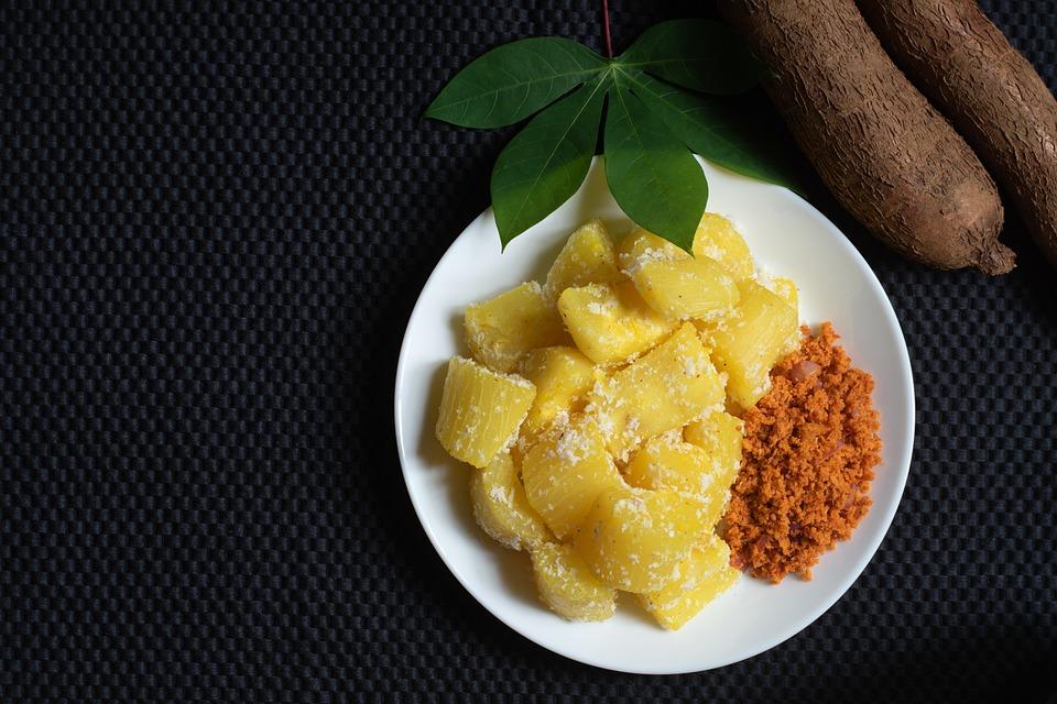Cassava, Food, Dish, Coconut, Breakfast, Meal, Snack