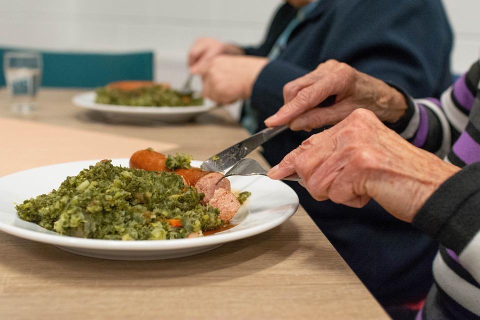 Food, Meal, Kale, Hand, Woman, Adult, Hands, Elderly