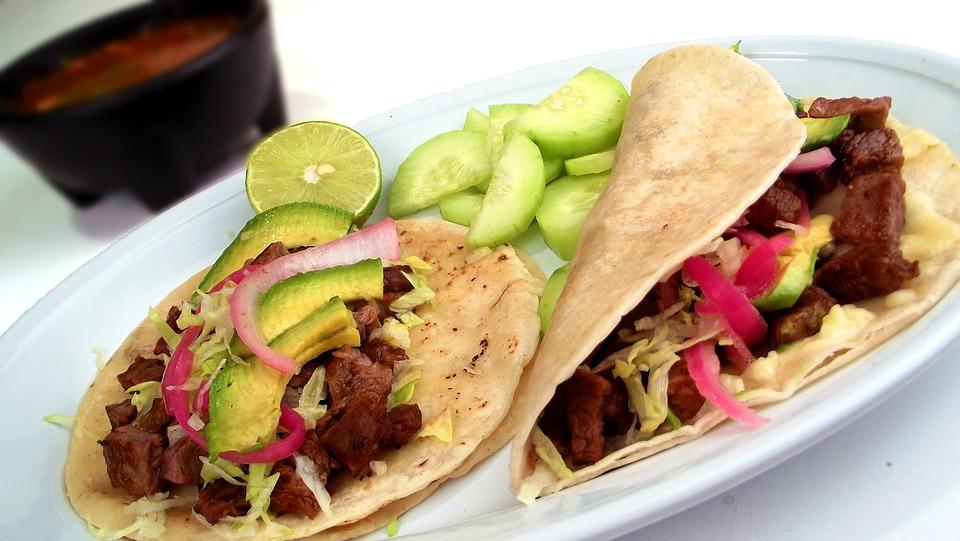 Tacos, Mexican, Carne Asada, Food, Plate, Meal, Cuisine