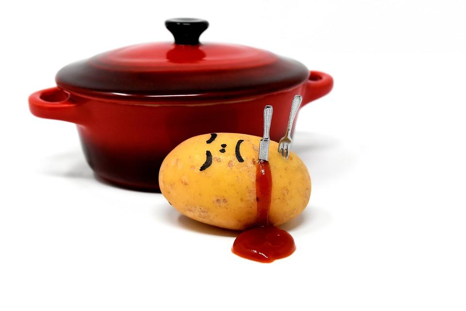 Potato, Meal, Pot, Kill, Preparing Something To Eat