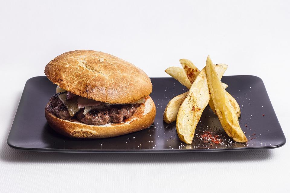 Burger, Food, Meat, Tasty, Potato, Dish
